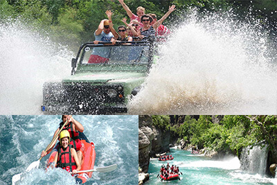 Jeep Rafting